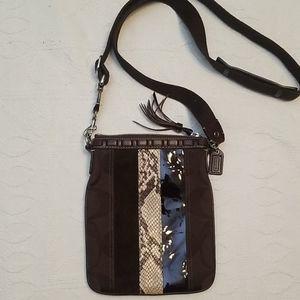 Coach brown mini crossbody purse bag
